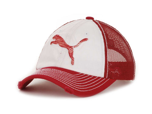 Puma Distressed Leaping Cat Trucker Cap Hats