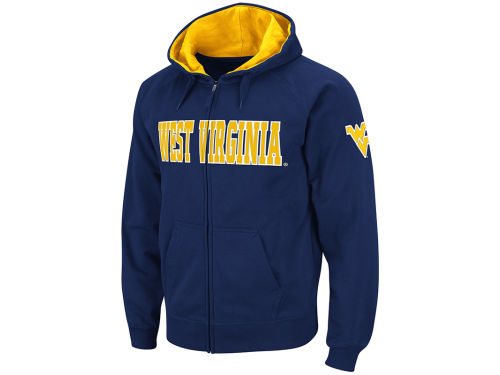 West Virginia Mountaineers Colosseum NCAA Block Fullzip Hoodie