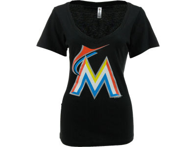 Miami Marlins MLB Womens Vneck T-Shirt