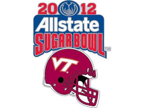 Virginia Tech Hokies 2012 Sugar Bowl Helmet Pin