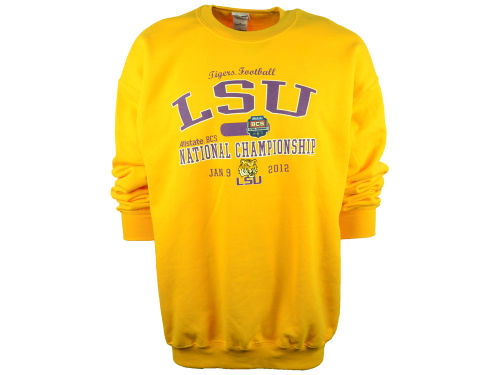 LSU Tigers Blue 84 National Champ 12 Liege Crew Sweatshirt