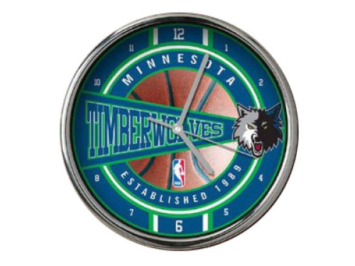 Minnesota Timberwolves Chrome Clock