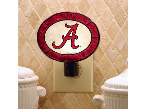 Alabama Crimson Tide Art Glass Night Light