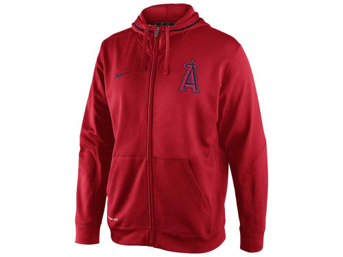 Los Angeles Angels of Anaheim Nike MLB TKO Therma-Fit Fleece Full Zip Hoodie