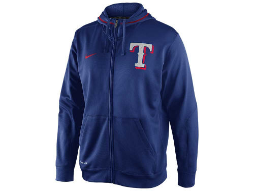 Texas Rangers Nike MLB TKO Therma-Fit Fleece Full Zip Hoodie