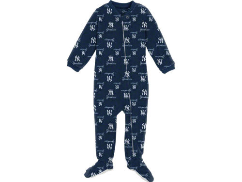 New York Yankees Outerstuff MLB Newborn Full Zip Raglan Coverall