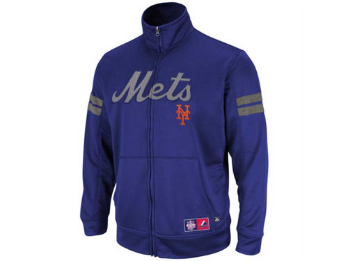 New York Mets Majestic MLB Delay Of Game Track Jacket
