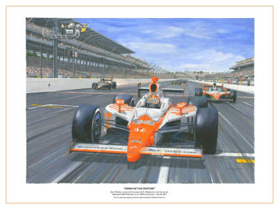 Dan Wheldon 18x24 Swintal Print