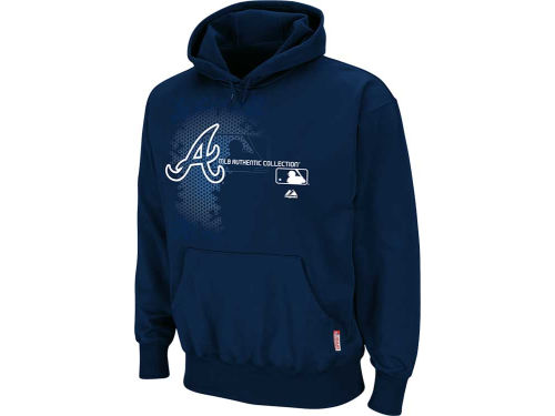 Atlanta Braves Majestic MLB AC Classic Therma Base Performance Hoodie