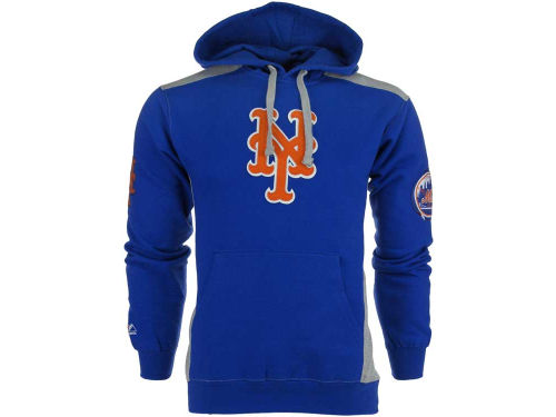New York Mets Majestic MLB Catcher Hooded Fleece