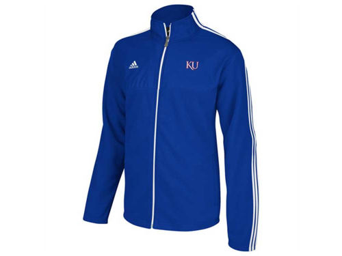 Kansas Jayhawks adidas NCAA 3 Stripe Jacket Primary Logo