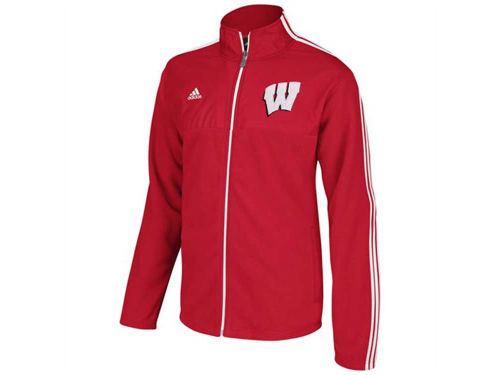 Wisconsin Badgers adidas NCAA 3 Stripe Jacket Primary Logo