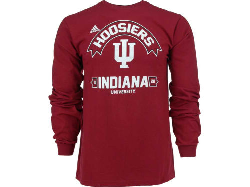 Indiana Hoosiers adidas NCAA Athletic Front Long Sleeve T-Shirt