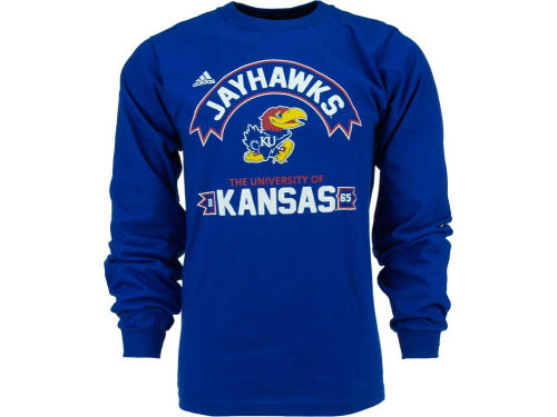 Kansas Jayhawks adidas NCAA Athletic Front Long Sleeve T-Shirt