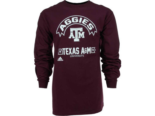 Texas A&M Aggies adidas NCAA Athletic Front Long Sleeve T-Shirt