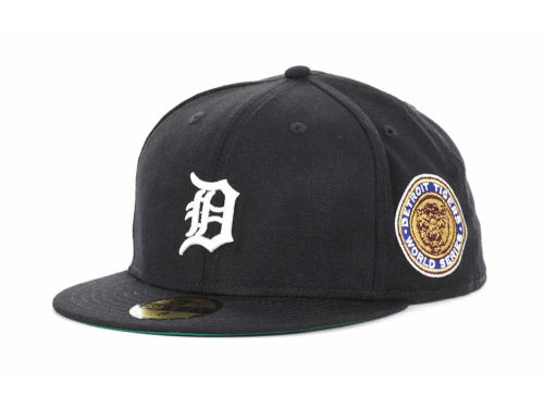 Detroit Tigers New Era MLB Retro World Series Patch 59FIFTY Cap Hats