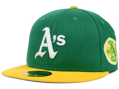 Oakland Athletics MLB Retro World Series Patch 59FIFTY Cap Hats