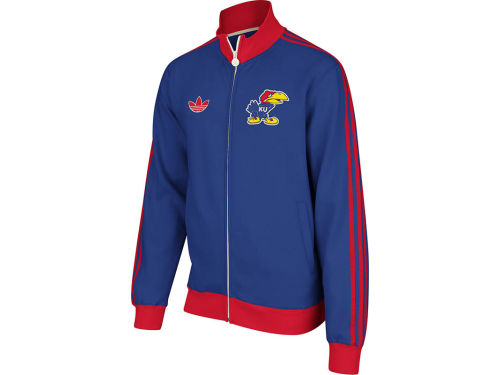 Kansas Jayhawks adidas NCAA Fleece Track Jacket