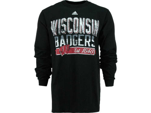 Wisconsin Badgers adidas NCAA Gymnasium Long Sleeve T-Shirt