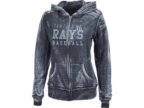 Tampa Bay Rays Majestic MLB Womens Classic Pride Full Zip Hooded Fleece