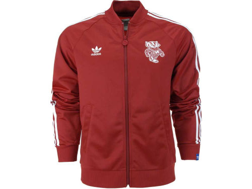 Wisconsin Badgers adidas NCAA Threaded Vault Track Jacket