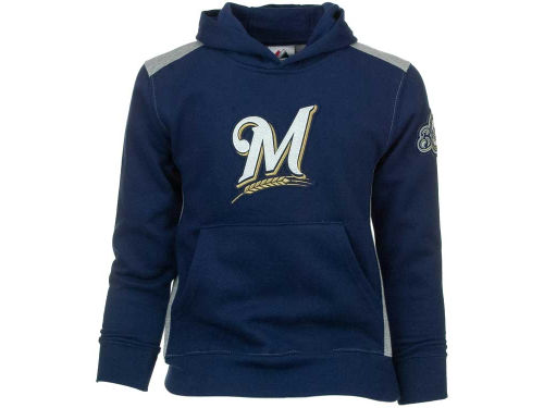 Milwaukee Brewers Majestic MLB Youth Lil Catcher Hooded Fleece