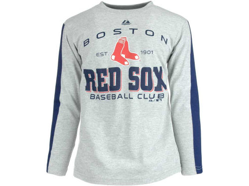 Boston Red Sox Majestic MLB Youth Roll Out Fashion T-Shirt