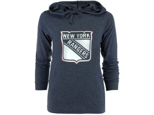 New York Rangers College Concepts NHL Womens Centennial Long Sleeve Hooded T-Shirt