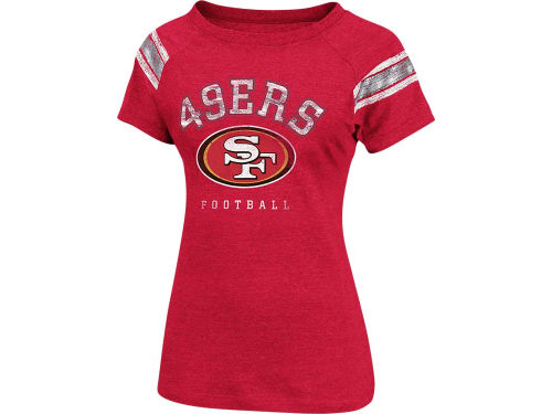 San Francisco 49ers VF Licensed Sports Group NFL Womens Full Blitz Raglan Top