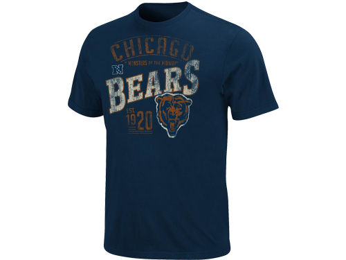 Chicago Bears VF Licensed Sports Group NFL Line To Gain T-Shirt
