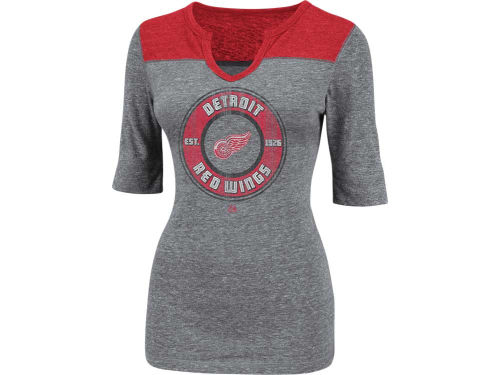 Detroit Red Wings Majestic NHL Womens Freeze The Puck Top