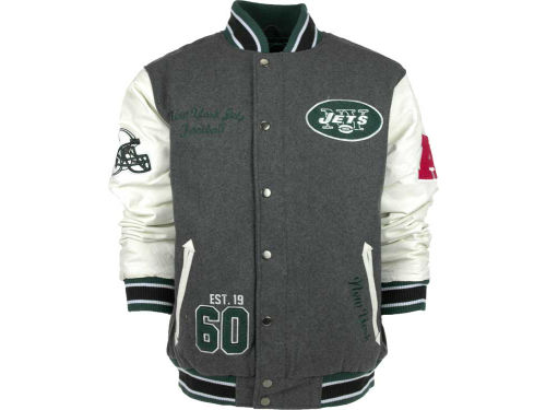 New York Jets GIII NFL Vintage Varsity Jacket