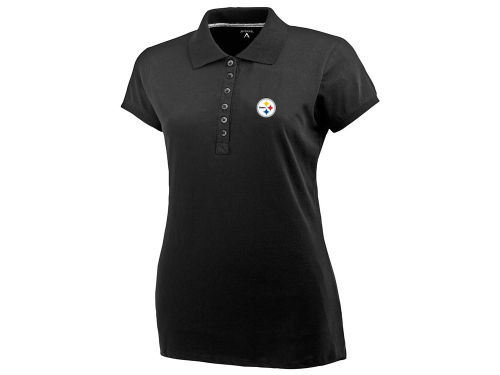 Pittsburgh Steelers Antigua NFL Womens Spark Polo