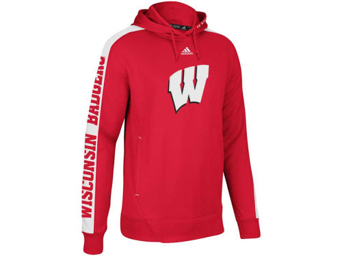 Wisconsin Badgers adidas NCAA Youth Sideline Swagger Hoodie