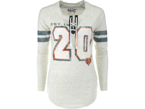 Chicago Bears GIII NFL Womens Kickoff Lace-Up T-Shirt