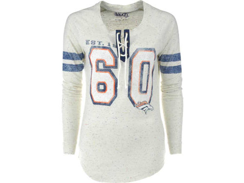 Denver Broncos GIII NFL Womens Kickoff Lace-Up T-Shirt