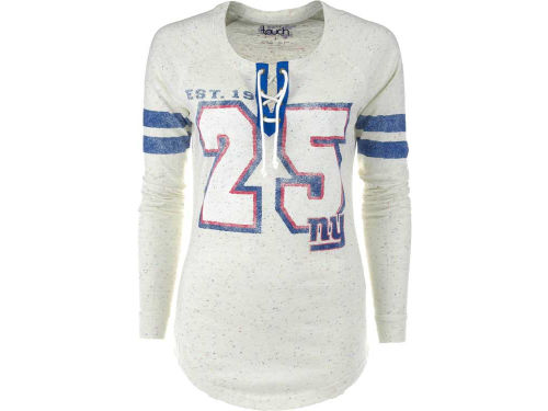 New York Giants GIII NFL Womens Kickoff Lace-Up T-Shirt