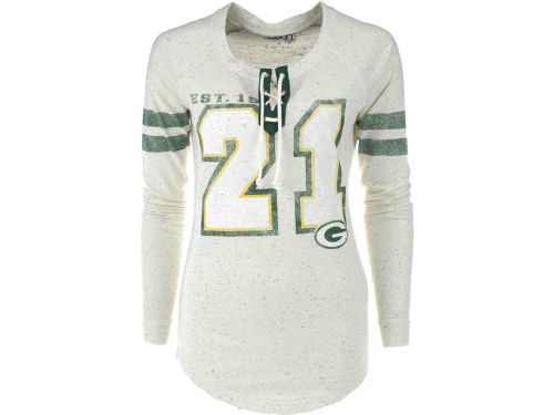 Green Bay Packers GIII NFL Womens Kickoff Lace-Up T-Shirt