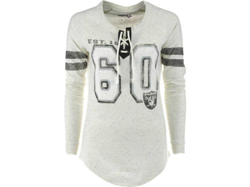Oakland Raiders GIII NFL Womens Kickoff Lace-Up T-Shirt