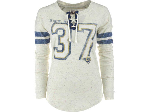 St. Louis Rams GIII NFL Womens Kickoff Lace-Up T-Shirt