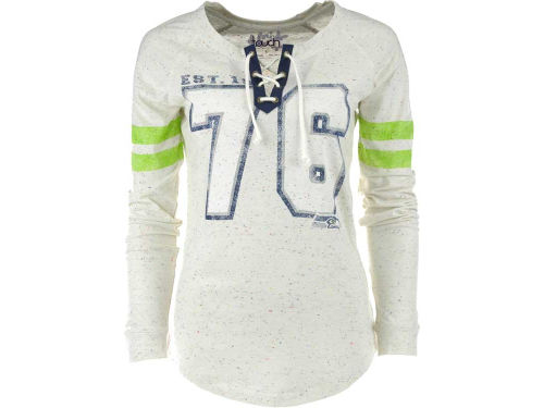 Seattle Seahawks GIII NFL Womens Kickoff Lace-Up T-Shirt