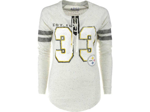 Pittsburgh Steelers GIII NFL Womens Kickoff Lace-Up T-Shirt