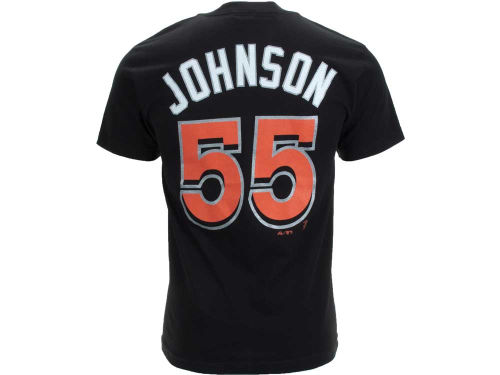 Miami Marlins Josh Johnson Majestic MLB Player T-Shirt
