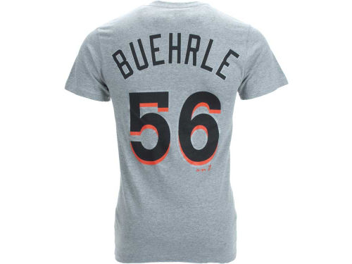 Miami Marlins Mark Buehrle Majestic MLB Player T-Shirt