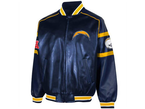 San Diego Chargers GIII NFL Post Game Pleather Jacket