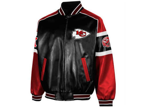 Kansas City Chiefs GIII NFL Post Game Pleather Jacket
