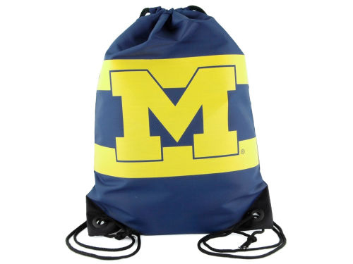 Michigan Wolverines Team Stripe Drawstring Bag