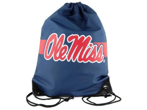 Mississippi Rebels Team Stripe Drawstring Bag