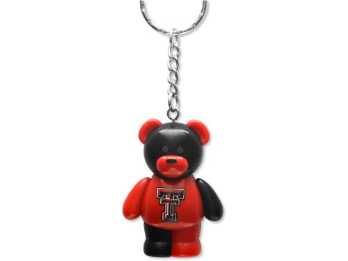 Texas Tech Red Raiders PVC Bear Keychain