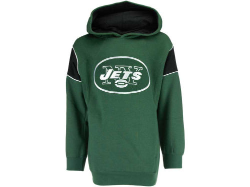 New York Jets Outerstuff NFL Youth Pullover Color Block Hoodie